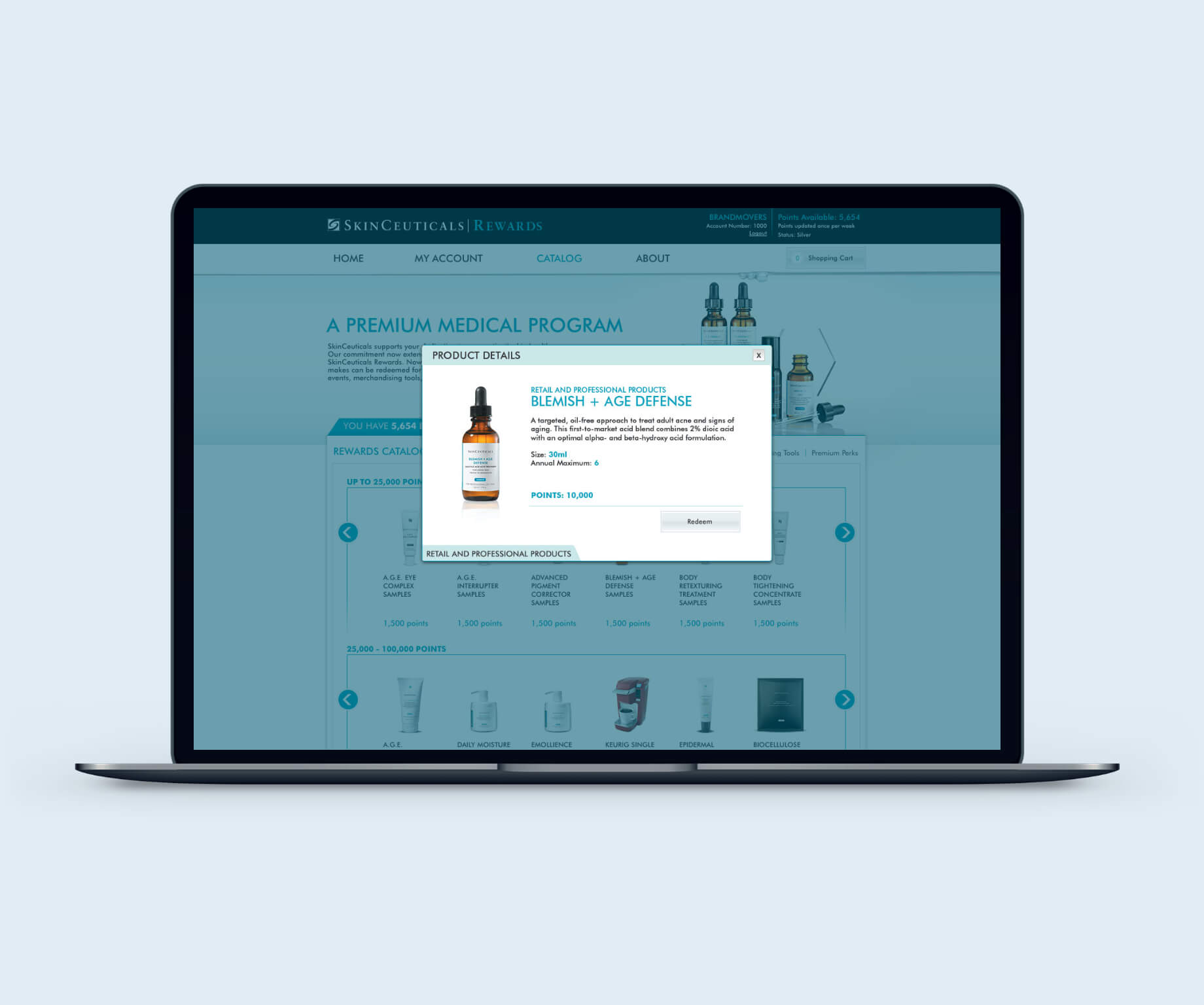Image of SkinCeuticals Catalog Page Modal Design